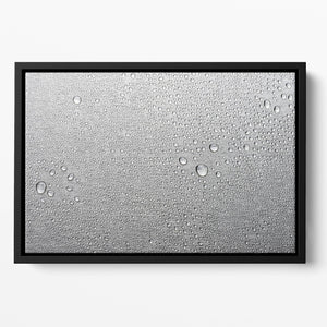 Brushed metal surface with water Floating Framed Canvas