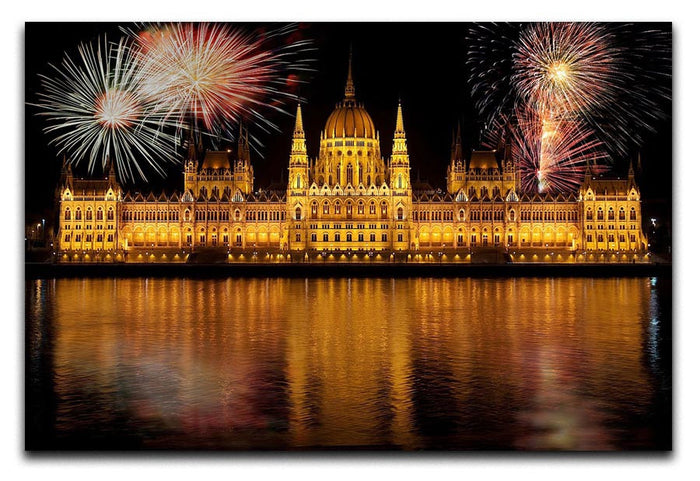 Budapest Fireworks Canvas Print or Poster