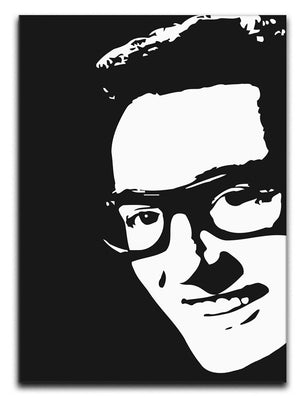 Buddy Holly Print - Canvas Art Rocks - 1