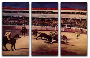 Bullfight by Manet 3 Split Panel Canvas Print - Canvas Art Rocks - 1