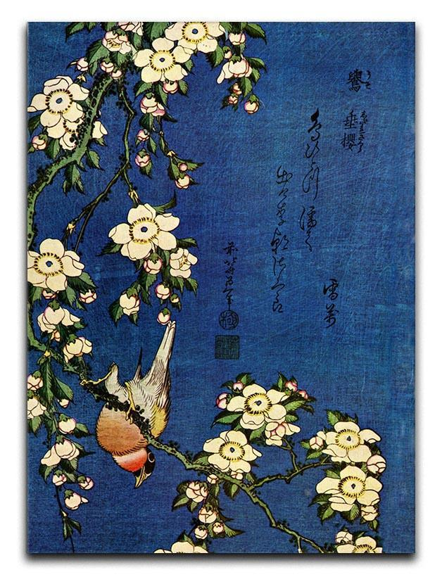 Bullfinch and drooping cherry by Hokusai Canvas Print or Poster  - Canvas Art Rocks - 1
