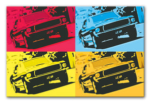 Bullitt Pop Art Print - Canvas Art Rocks - 1