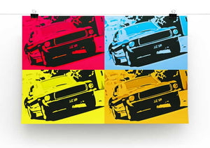 Bullitt Pop Art Print - Canvas Art Rocks - 2