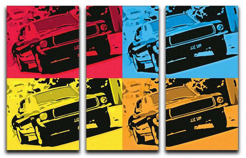 Bullitt Pop Art 3 Split Panel Canvas Print - US Canvas Art Rocks