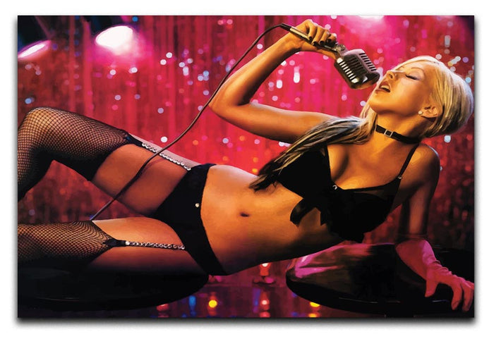 Christina Aguilera Burlesque Canvas Print or Poster