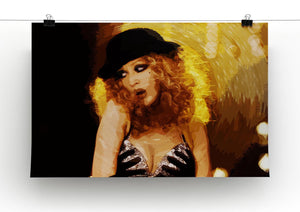 Close Up of Christina Aguilera from Burlesque Print - Canvas Art Rocks - 2
