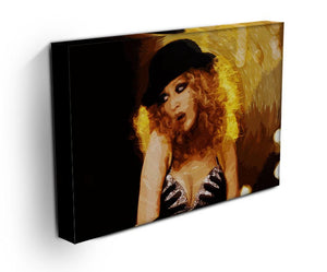 Close Up of Christina Aguilera from Burlesque Print - Canvas Art Rocks - 3
