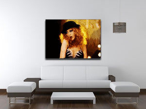 Close Up of Christina Aguilera from Burlesque Print - Canvas Art Rocks - 4