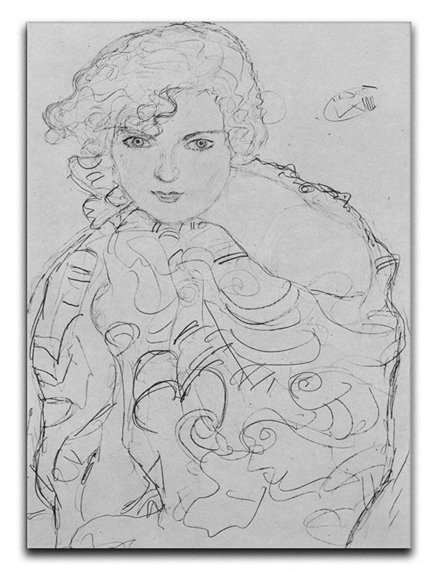 Bust of a woman by Klimt Canvas Print or Poster  - Canvas Art Rocks - 1