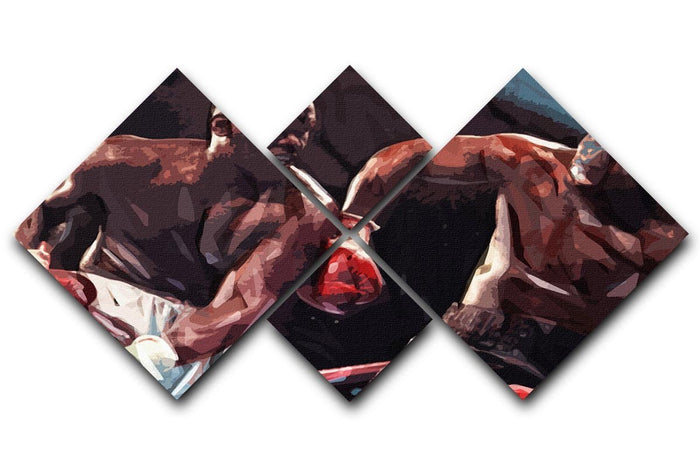 Buster Douglas v Mike Tyson 4 Square Multi Panel Canvas