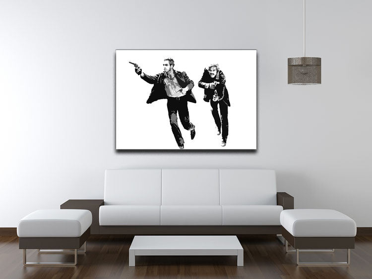 Butch Cassidy and the Sundance Kid Canvas Print & Poster - US Canvas Art Rocks