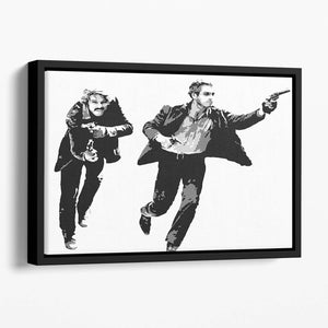 Butch Cassidy and the Sundance Kid Floating Framed Canvas
