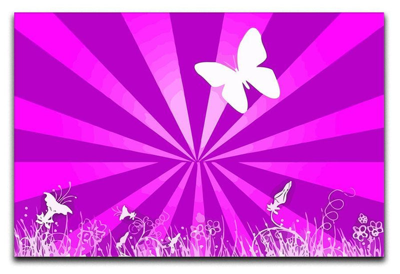 Butterfly Abstract Canvas Print or Poster  - Canvas Art Rocks - 1