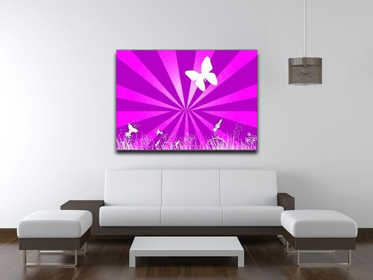 Butterfly Abstract Canvas Print or Poster - Canvas Art Rocks - 4
