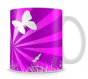 Butterfly Abstract Mug - Canvas Art Rocks - 1