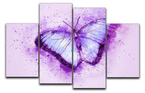 Butterfly Painting 4 Split Panel Canvas  - Canvas Art Rocks - 1