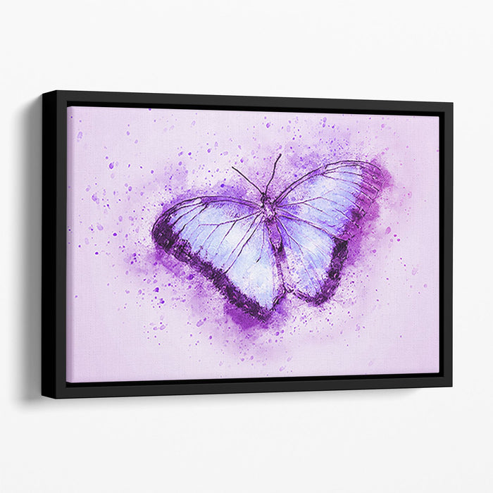 Butterfly Painting Floating Framed Canvas