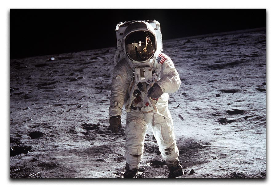 Buzz Aldrin Astronaut Man On Moon Canvas Print & Poster | They'll ...