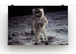 Buzz Aldrin Astronaut Man On Moon Print - Canvas Art Rocks - 2
