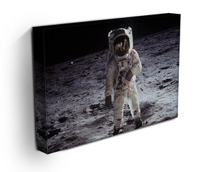 Buzz Aldrin Astronaut Man On Moon Print - Canvas Art Rocks - 3