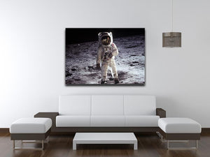 Buzz Aldrin Astronaut Man On Moon Print - Canvas Art Rocks - 4