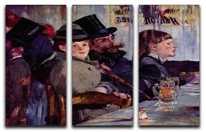 Cabaret in Reichshoffen by Manet 3 Split Panel Canvas Print - Canvas Art Rocks - 1
