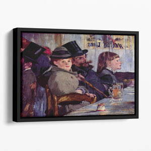 Cabaret in Reichshoffen by Manet Floating Framed Canvas