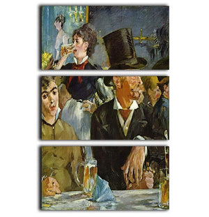 Cafe Concert by Manet 3 Split Panel Canvas Print - Canvas Art Rocks - 1