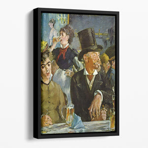 Cafe Concert by Manet Floating Framed Canvas