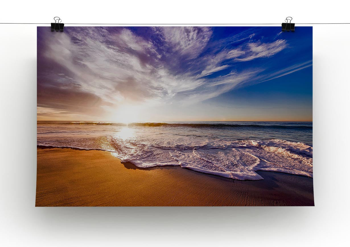 california beach canvas print poster canvas art rocks