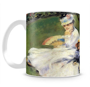 Camille Monet and her son Jean in the garden of Argenteuil by Renoir Mug - Canvas Art Rocks - 2