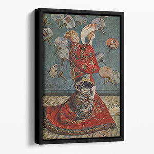 Camille in Japanese dress by Monet Floating Framed Canvas
