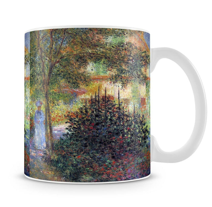 Camille in the garden of the house in Argenteuil by Monet Mug