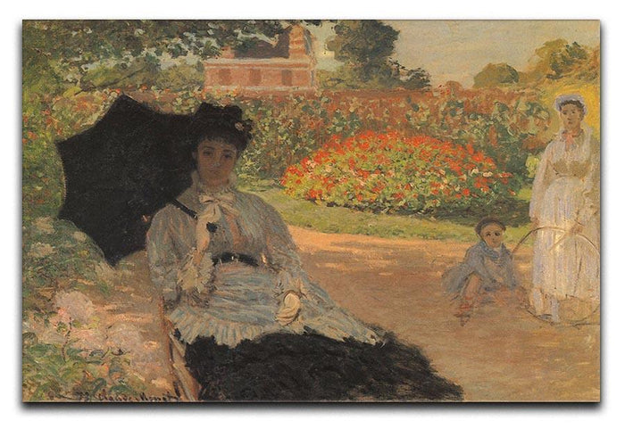 Camille in the garden with Jean and his nanny by Monet Canvas Print or Poster