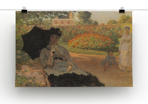 Camille in the garden with Jean and his nanny by Monet Canvas Print & Poster - Canvas Art Rocks - 2
