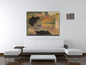 Camille in the garden with Jean and his nanny by Monet Canvas Print & Poster - Canvas Art Rocks - 4