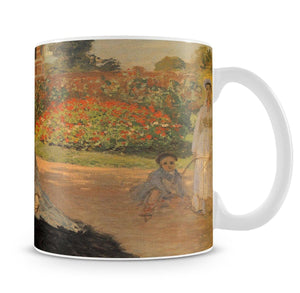 Camille in the garden with Jean and his nanny by Monet Mug - Canvas Art Rocks - 4