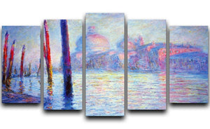 Canal Grand by Monet 5 Split Panel Canvas  - Canvas Art Rocks - 1