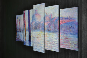 Canal Grand by Monet 5 Split Panel Canvas - Canvas Art Rocks - 2
