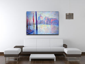 Canal Grand by Monet Canvas Print & Poster - Canvas Art Rocks - 4