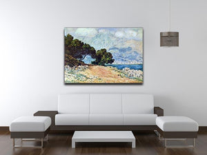 Cape Martin in Menton by Monet Canvas Print & Poster - Canvas Art Rocks - 4