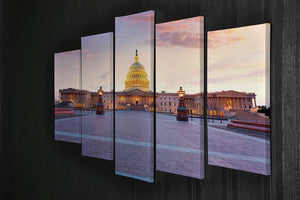 Capitol building sunset 5 Split Panel Canvas  - Canvas Art Rocks - 2