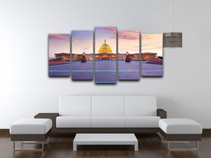 Capitol building sunset 5 Split Panel Canvas  - Canvas Art Rocks - 3