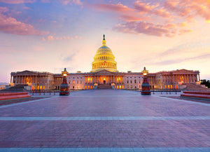 Capitol building sunset Wall Mural Wallpaper - Canvas Art Rocks - 1