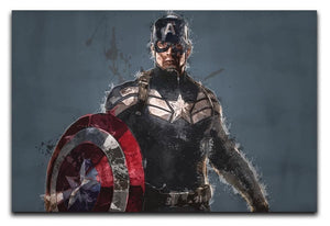 Captain America Canvas Print & Poster - US Canvas Art Rocks