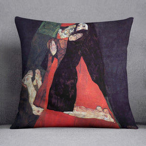 Cardinal and Nun or The caress by Egon Schiele Cushion