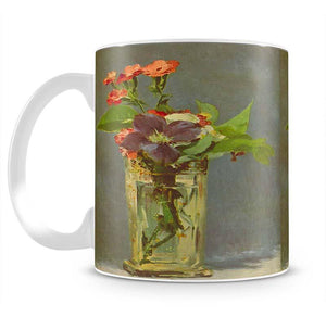 Carnations and Clematis in a Crystal Vase by Manet Mug - Canvas Art Rocks - 2