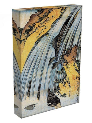 Carps ascending waterfall by Hokusai Canvas Print or Poster - Canvas Art Rocks - 3