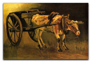 Cart with Red and White Ox by Van Gogh Canvas Print & Poster  - Canvas Art Rocks - 1