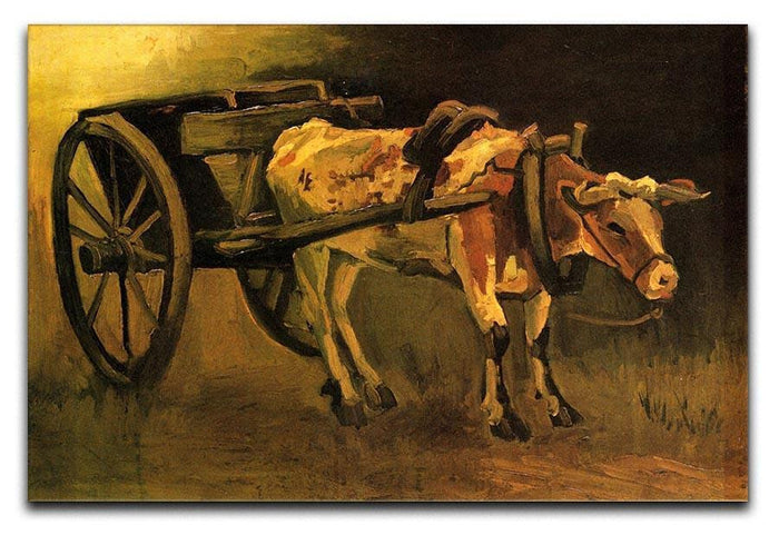 Cart with Red and White Ox by Van Gogh Canvas Print or Poster